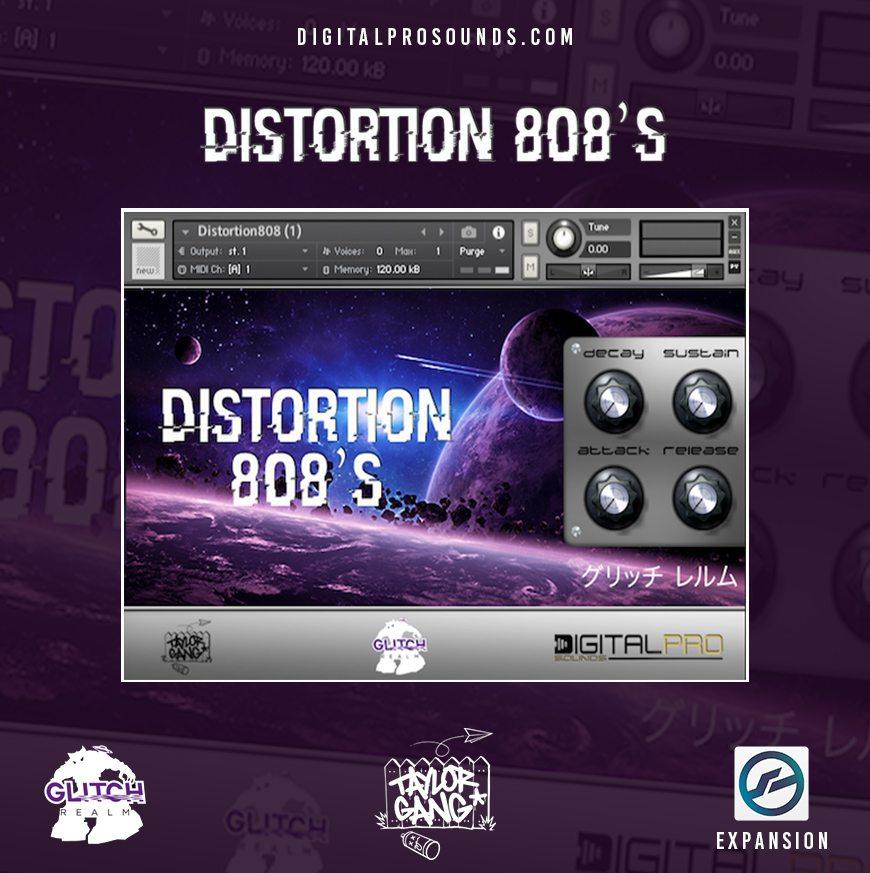 DISTORTION 808's (KONTAKT & WAV)